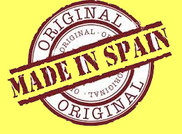 logo Made in Spain fondo geel